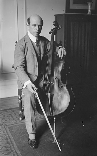 Pablo Casals - Casals in 1917 at Carnegie Hall