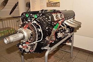 Packard V-1650 Merlin - Packard V-1650 in Deutsches Museum München