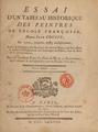 Pahin de La Blancherie - Essai d'un tableau historique Cover.png