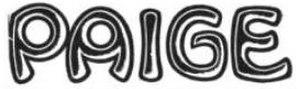 Paige automobile - Image: Paige auto 1912 logo