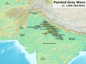 Painted Grey Ware culture - Map of some PGW sites.