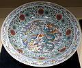 Pair of large dish with dragon and phoenix design, 1 of 2, China, Jingdezhen kiln, Qing dynasty, Yongzheng period, 1723-1735, doucai enamels - Matsuoka Museum of Art - Tokyo, Japan - DSC07273.JPG