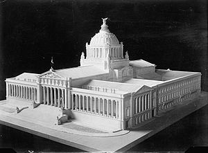 Monumento a la Revolución - Model of the Palacio Legislativo.