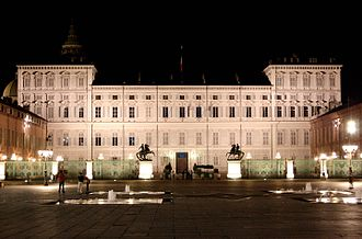 Residences of the Royal House of Savoy - Image: Palazzo Reale Notte Torino