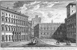 Palazzo Bolognetti-Torlonia building in Rome, Italy