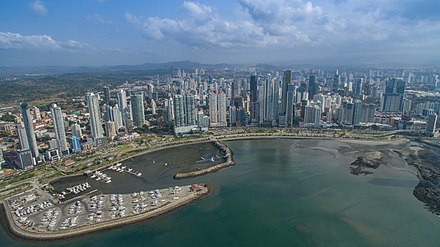 Panama City financial district Panama City financial district.jpg