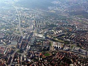 Prague 4 - Aerial view of Pankrác