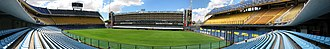 La Bombonera - Panoramic view of Estadio Alberto J. Armando, mostly known as La Bombonera, taken in 2012.