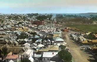 Freemans Bay - Lower Freemans Bay and Victoria Park, sometime in the early 20th Century, looking west along Wellesley Street West.