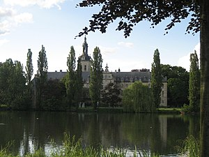 Park Abbey - The abbey seen from across one of the fishponds