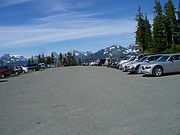 Parking lot at Mt. Baker in Washington State