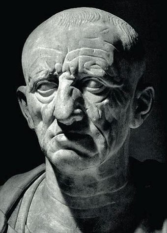 The Patrician Torlonia bust believed to be of Cato the Elder. 1st century BC Marco Porcio Caton Major.jpg