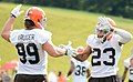 Paul Kruger and Joe Haden 2014 Browns training camp.jpg