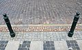 Pavement marker Warsaw Ghetto Wall Chlodna Street.JPG