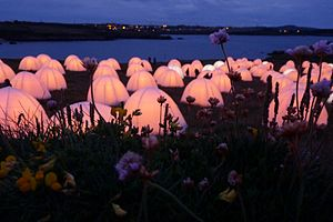 Llanbadrig - Image: Peace Camp, Llanbadrig point, Anglesey, July 2012