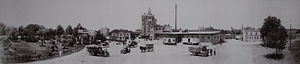 Pearl Brewing Company - Panoramic photo of the brewery in 1910 (Staats Collection)
