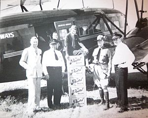 Pearl Brewing Company - Cases of Pearl being flown to customers after Prohibition