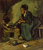 Peasant Woman Cooking by a Fireplace.jpeg