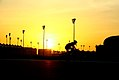 Pedalando no por do sol no circuito Yas Marina - Cycling sunset at Yas Marina circuit - Abu Dhabi (17153689287).jpg