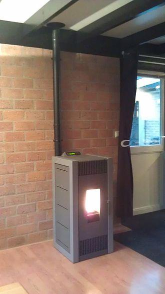 Pellet stove - A modern pellet stove
