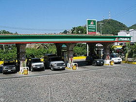 A Pemex gas station in Puerto Vallarta
