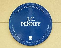 Photo of James Cash Penney blue plaque