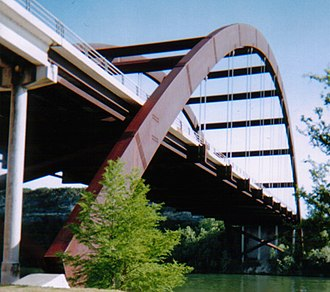 Pennybacker Bridge - A closer view of the bridge