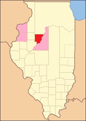 Peoria County, Illinois - Image: Peoria County Illinois 1826