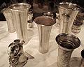 Perù, chimù, bicchiere, XIV-XV sec, argento sbalzato 03.JPG