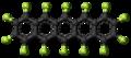 Perfluoropentacene molecule ball.png