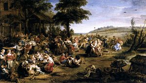 Fête - The Village Fête, by Rubens (c. 1635)