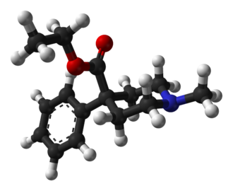 Pethidine - Image: Pethidine PM3 based on xtal 1974 3D balls