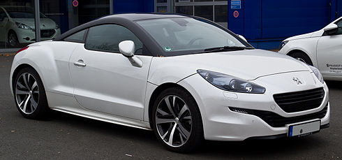 Peugeot RCZ won five years in a row the Diesel Car magazine 'Sports Car of the Year' and the Top Gear 2010 Coupe of the Year Peugeot RCZ (Facelift) - Frontansicht, 7. Dezember 2014, Ratingen.jpg
