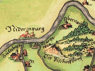 Niedernberg - Niedernberg on a map from 1562