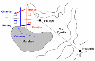 Liberators' civil war - First Battle of Philippi