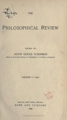 Philosophical Review Volume 1.djvu
