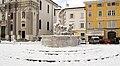 Piazza della Vittoria Gorizia - Fountain with snow.jpg