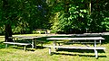 Picnic tables and restrooms in the day use area of Cascadia State Park.jpg