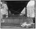 Pier, view east - West Penn Bridge, Pennsylvania Railroad, spanning Allegheny River, Pittsburgh, Allegheny County, PA HAER PA,2-PITBU,70-13.tif