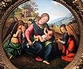 Piero di cosimo, madonna col bambino e tre angeli, diam. 82 cm, milano, collezione borromeo-conti, 02.JPG