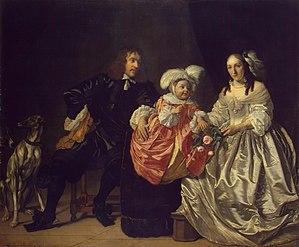 Bartholomeus van der Helst - Pieter Lucaszn van de Venne and Anna de Carpentier with their child