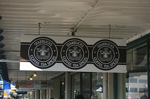Pike Place Starbucks sign