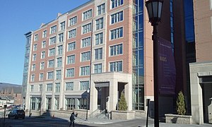 University of Scranton - Pilarz Hall is part of the new Mulberry Street Complex, which includes housing, fitness facilities, and a food court.