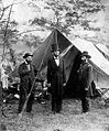 Pinkerton, Lincoln, and McClernand at Antietam, 1862.JPG