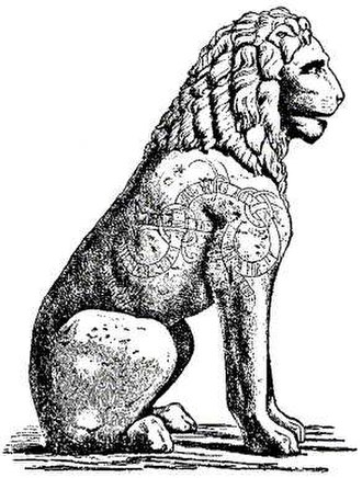 North Germanic peoples - The Piraeus Lion of Piraeus, Greece, contains an 11th-century inscription made by a member of the Varangian Guard