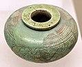 Pisside in faience egiziana, dalla tomba degli animali dipinti, banditaccia, 650-630 ac ca.jpg