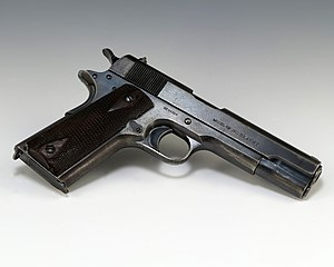 M1911 pistol - A government-issue 'Model of 1911' pistol (serial number: 94854) manufactured in 1914