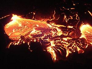 Français : Eruption du Piton de la Fournaise (...