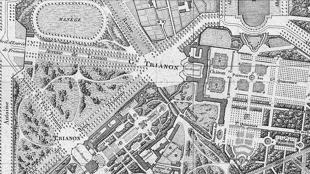 File plan de la ville du ch teau et du parc de versailles for Piscine de versailles