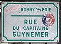 Plaque Rue Capitaine Guynemer - Rosny-sous-Bois (FR93) - 2021-04-15 - 1.jpg